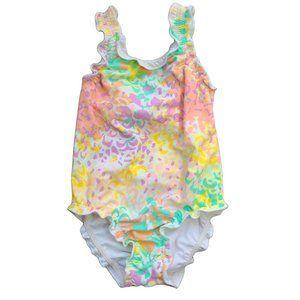 ☘️3/$30☘️Pastel Frilly One Piece Swim Suit 6-12 mo